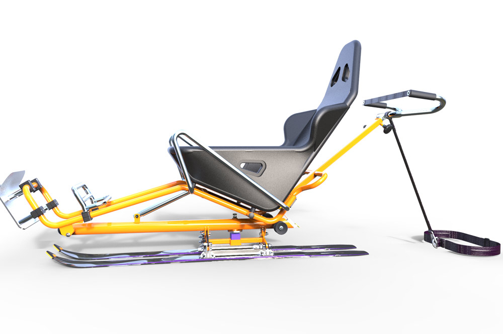 Biski, skiing chair | Joëlette and Co | Skiing chair people with ...