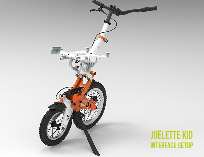 Joëlette Kid with interface for seat corset